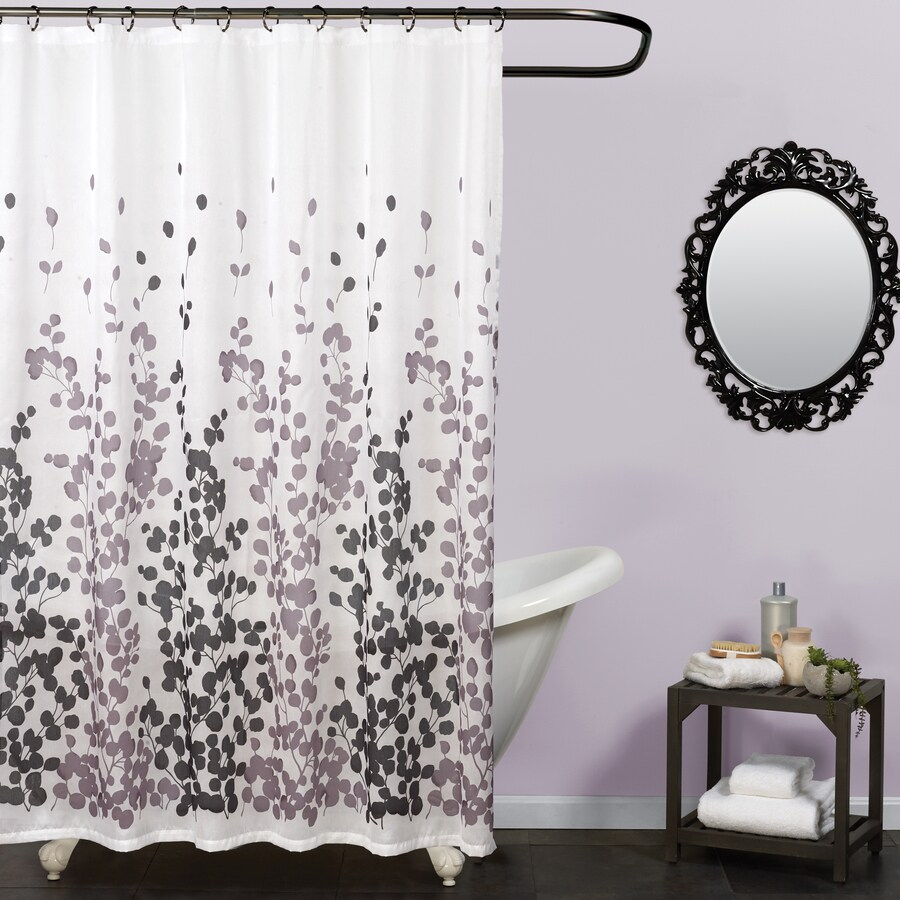 zenna home 72 in polyester multi patterneded shower curtain lowes com