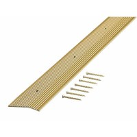 Shop M-D 2-in x 36-in Fluted Brass Carpet Trim at Lowes.com