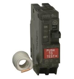 ge q line thql 20 amp 1 pole ground fault circuit breaker [ 900 x 900 Pixel ]