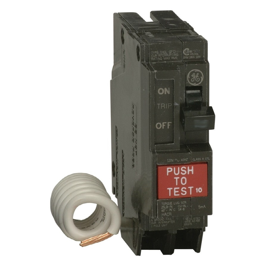 hight resolution of ge q line thql 20 amp 1 pole ground fault circuit breaker
