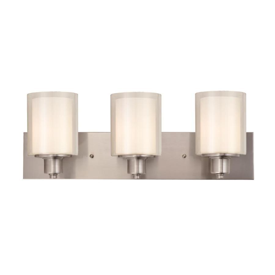 light nickel transitional vanity light