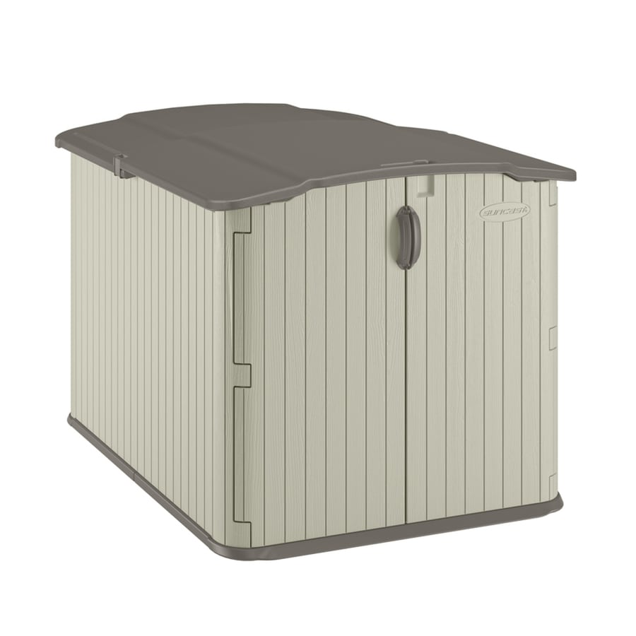 Suncast Vanilla Resin Outdoor Storage Shed Common 57in