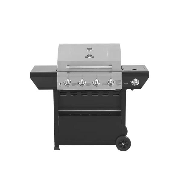Grill Master Stainless Steel Black 4-burner 48 000-btu