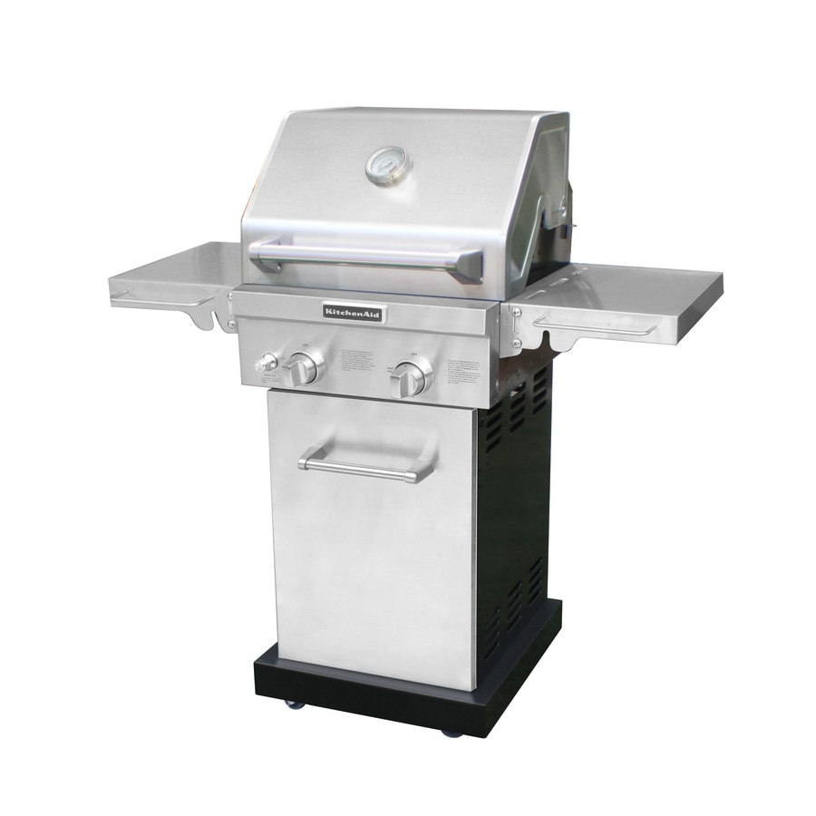 kitchen aid gas grills sets on sale kitchenaid 2 burner 29 000 btu natural or liquid propane grill