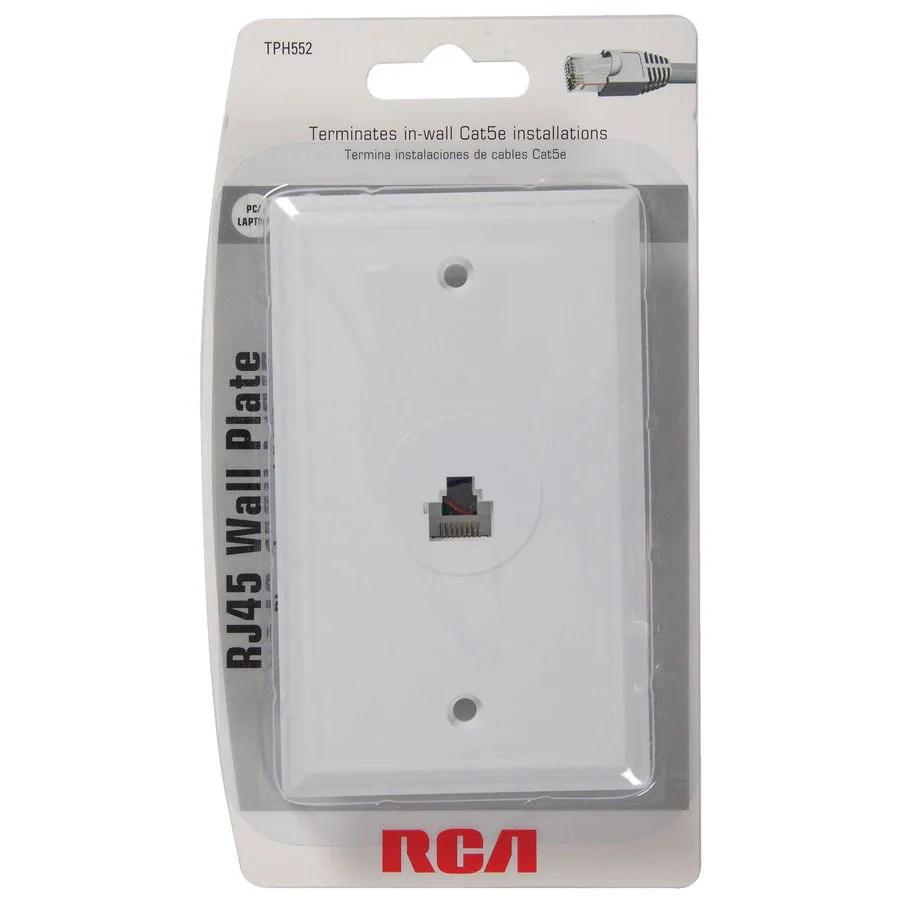 cat 5 wiring diagram rca wall jack 2008 nissan versa radio white rj45 plate at lowes com