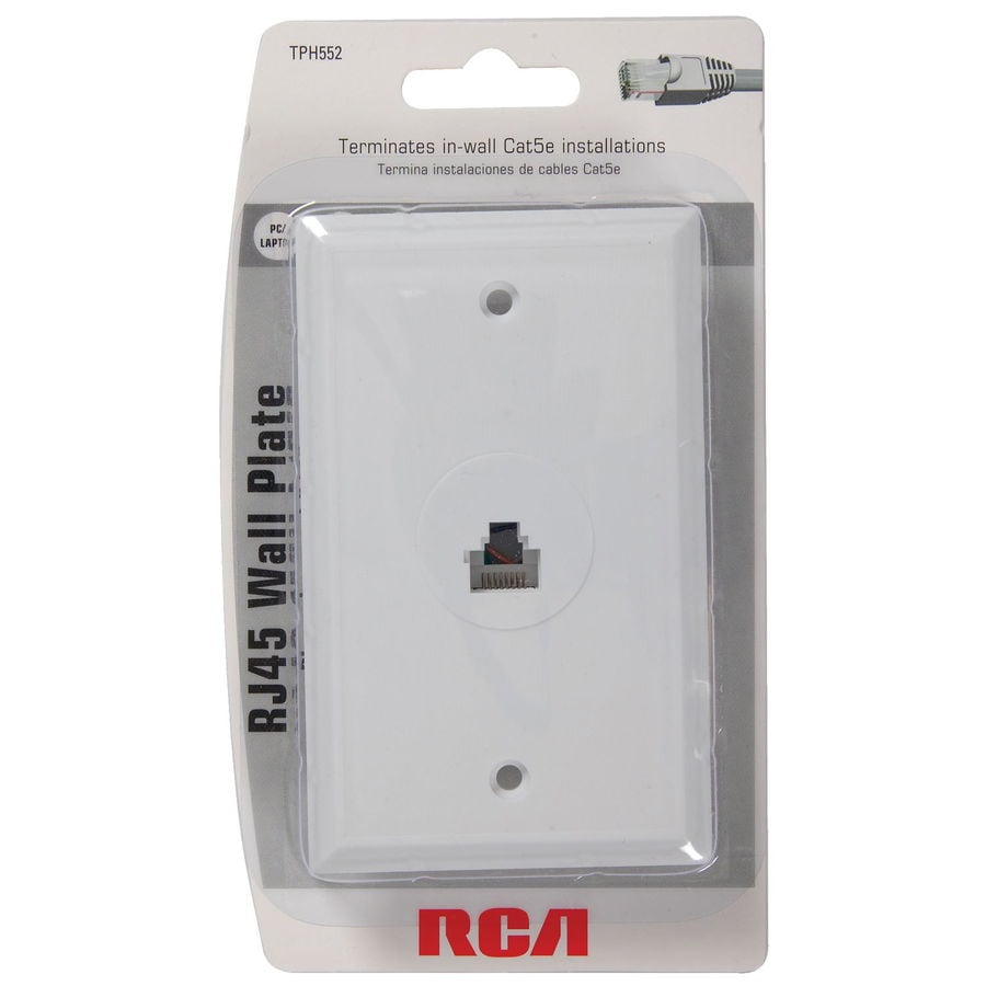 hight resolution of rca white rj45 wall plate