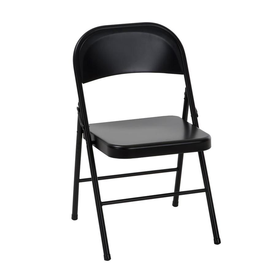 Cosco Folding Chair Cosco Indoor Only Steel Black Standard Folding Chair At Lowes