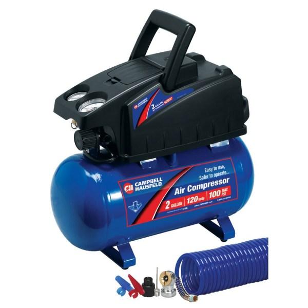 Campbell Hausfeld 2-gallon 110-psi 120-volt Horizontal Portable Electric Air Compressor