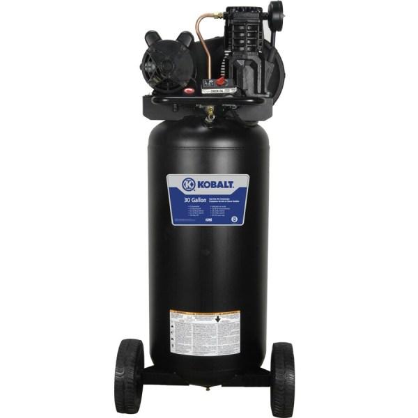 Kobalt 2-hp 30-gallon 155-psi 120-volt Vertical Portable Electric Air Compressor