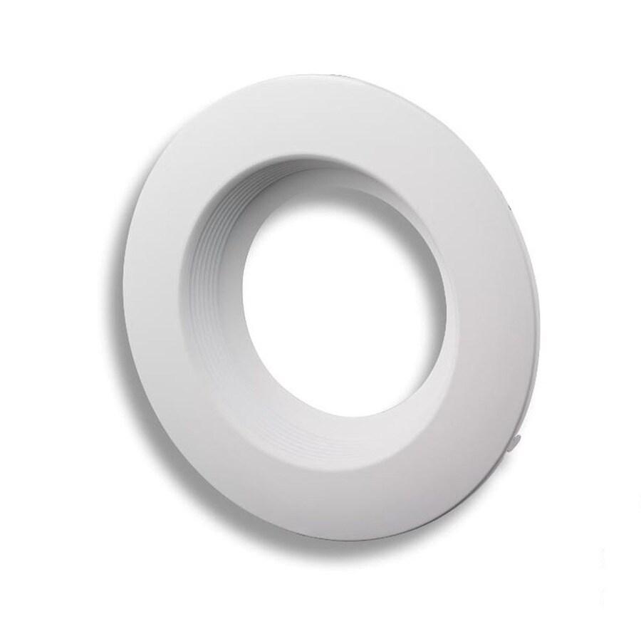 white baffle recessed lighting trim