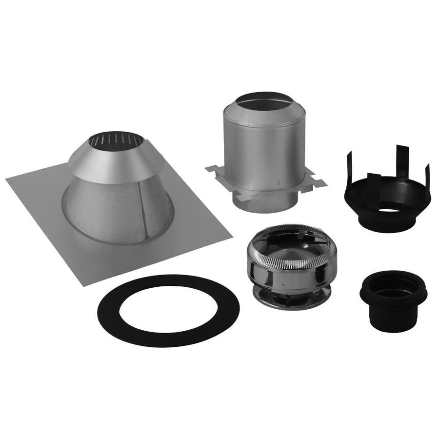 Supervent 5 Piece Chimney Pipe Accessory Kit For Ceiling