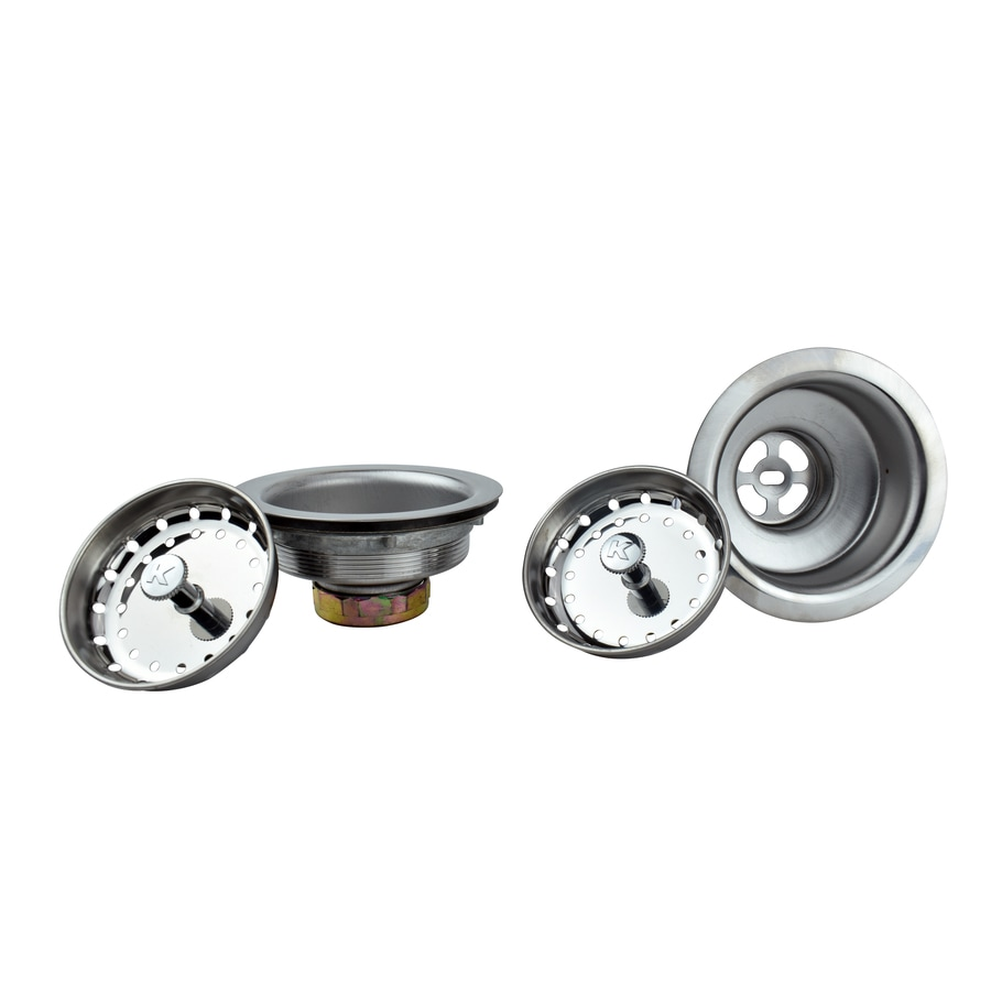 kitchen sink strainers counter options keeney 4 5 in strainer at lowes com