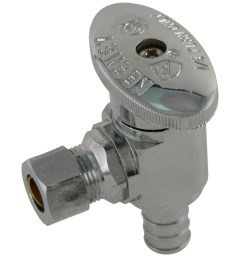 keeney brass 1 2 in pex barb x 3 8 in compression quarter turn angle valve [ 900 x 900 Pixel ]