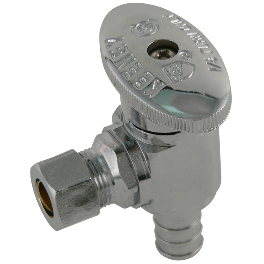medium resolution of keeney brass 1 2 in pex barb x 3 8 in compression quarter turn angle valve