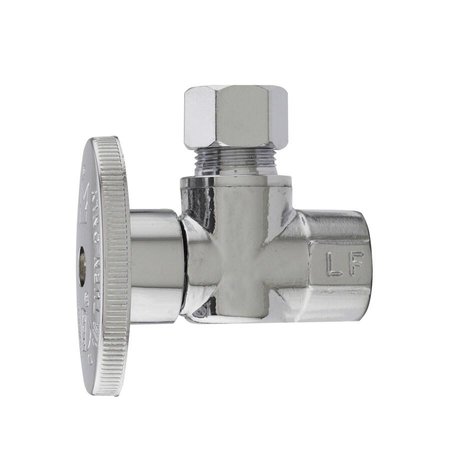 Plumb Pak Brass 38in FIP x 38in Compression Quarter