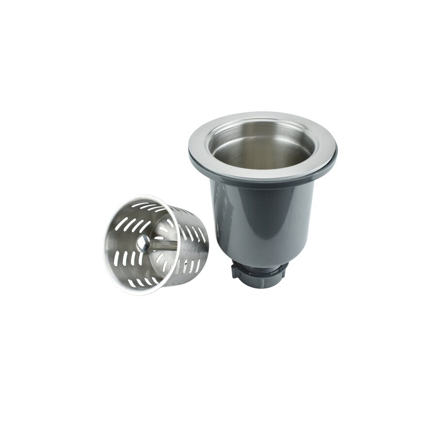 kitchen sink strainers cabinents keeney 3 5 in stainless steel strainer basket at lowes com