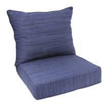 Allen Roth 1-piece Navy Deep Seat Patio Chair Cushion