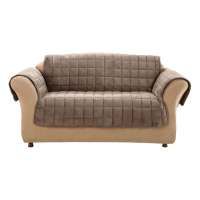 Shop Deluxe Quilted Brown Duck (Canvas) Sofa Slipcover at ...