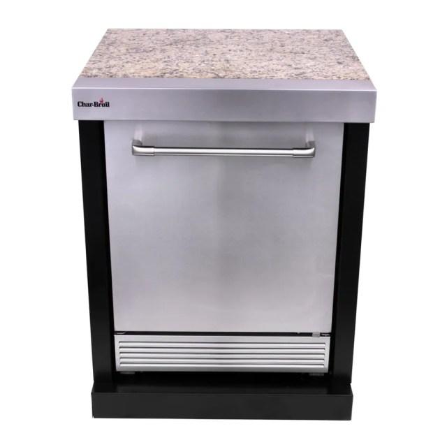 char-broil modular outdoor kitchen medallion modular refrigerator at