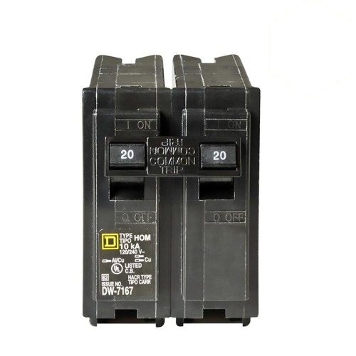 small resolution of square d homeline 20 amp 2 pole standard trip circuit breaker