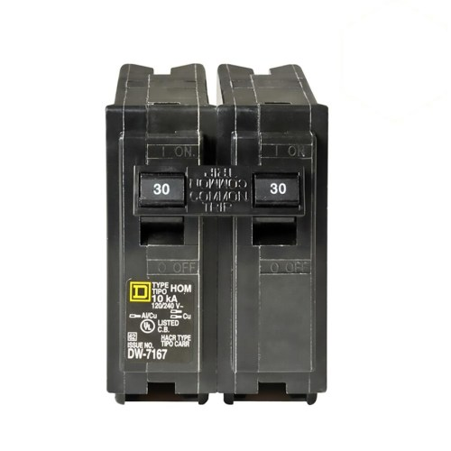 small resolution of square d homeline 30 amp 2 pole standard trip circuit breaker