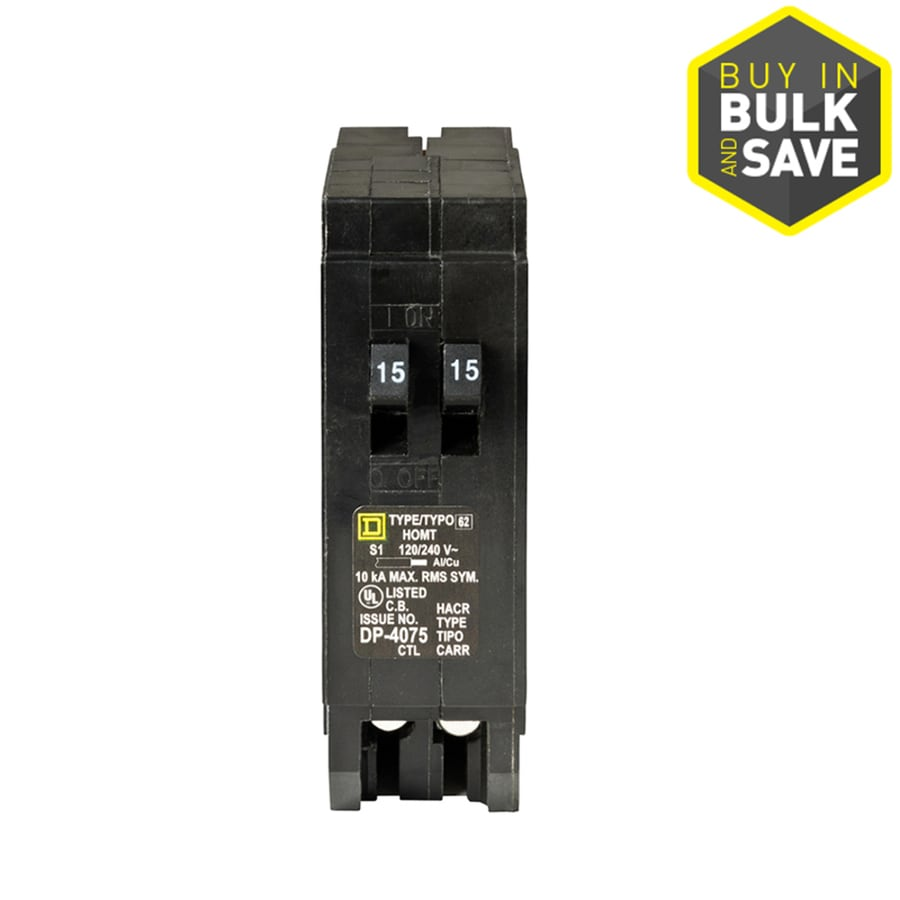 hight resolution of square d homeline 15 amp 1 pole tandem circuit breaker