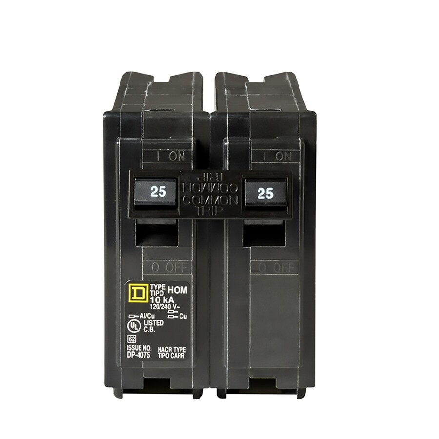 medium resolution of square d homeline 25 amp 2 pole standard trip circuit breaker