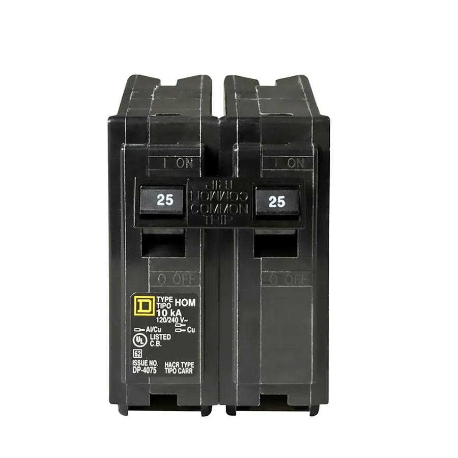 hight resolution of square d homeline 25 amp 2 pole standard trip circuit breaker