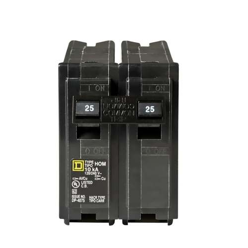 small resolution of square d homeline 25 amp 2 pole standard trip circuit breaker