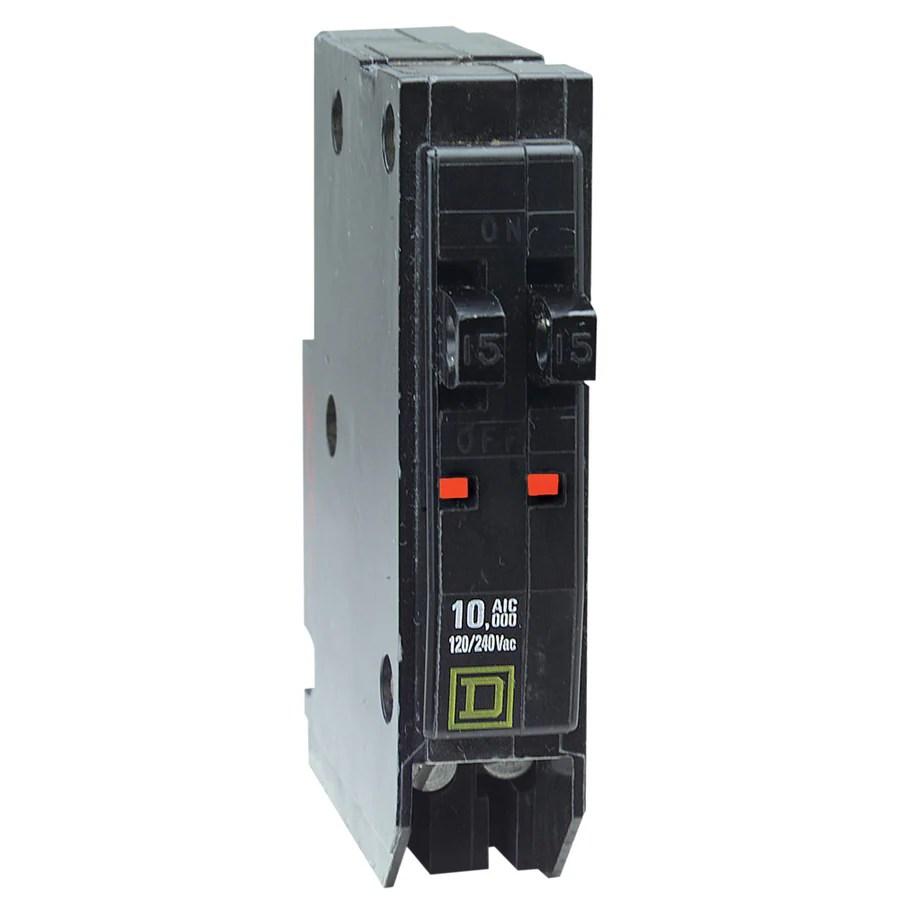 medium resolution of square d qo 15 amp 1 pole tandem circuit breaker at lowes com