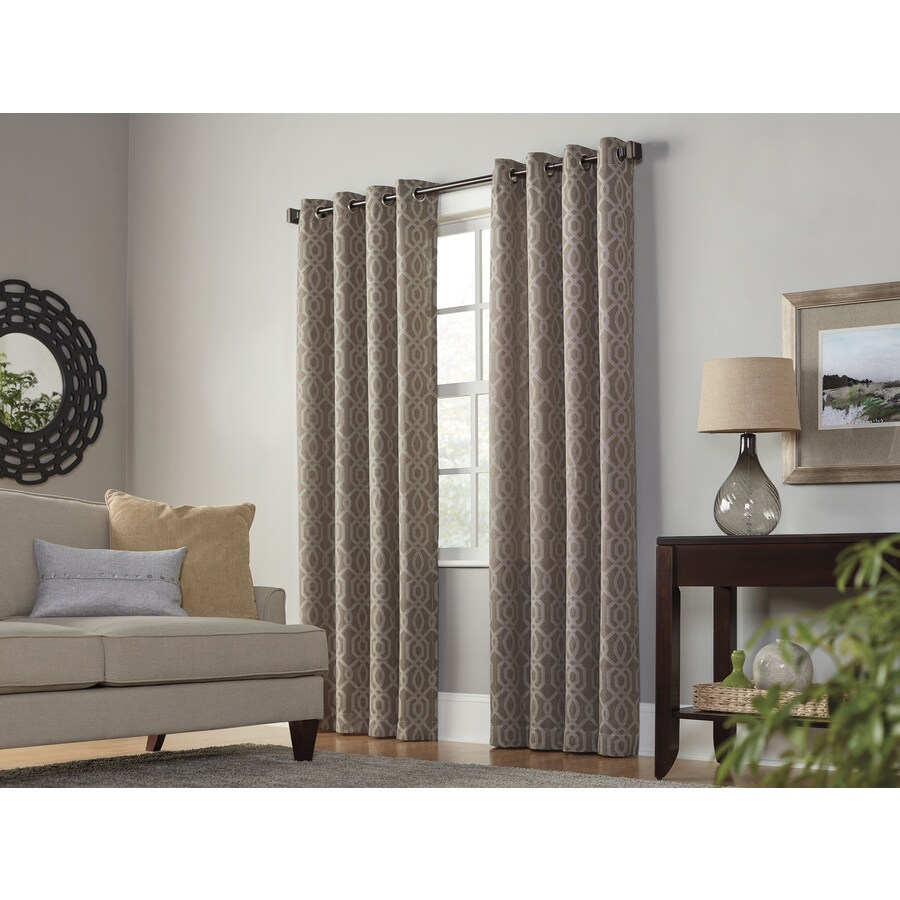 Al Roth Keldgate  In Cobblestone Polyester Grommet Light Filtering Single Curtain Panel