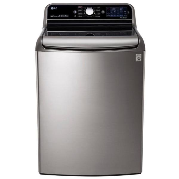 Lg 5.7-cu Ft High Efficiency Top-load Washer Graphite Steel Energy Star