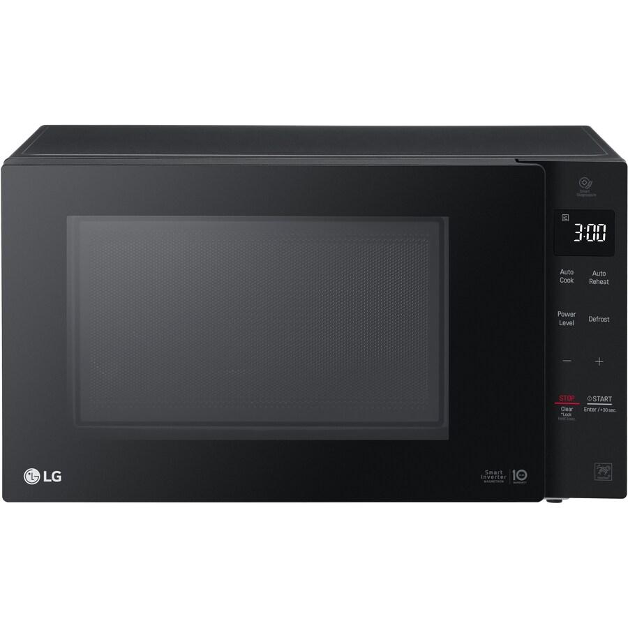 lg 1 2 cu ft 1200 watt countertop microwave smooth black