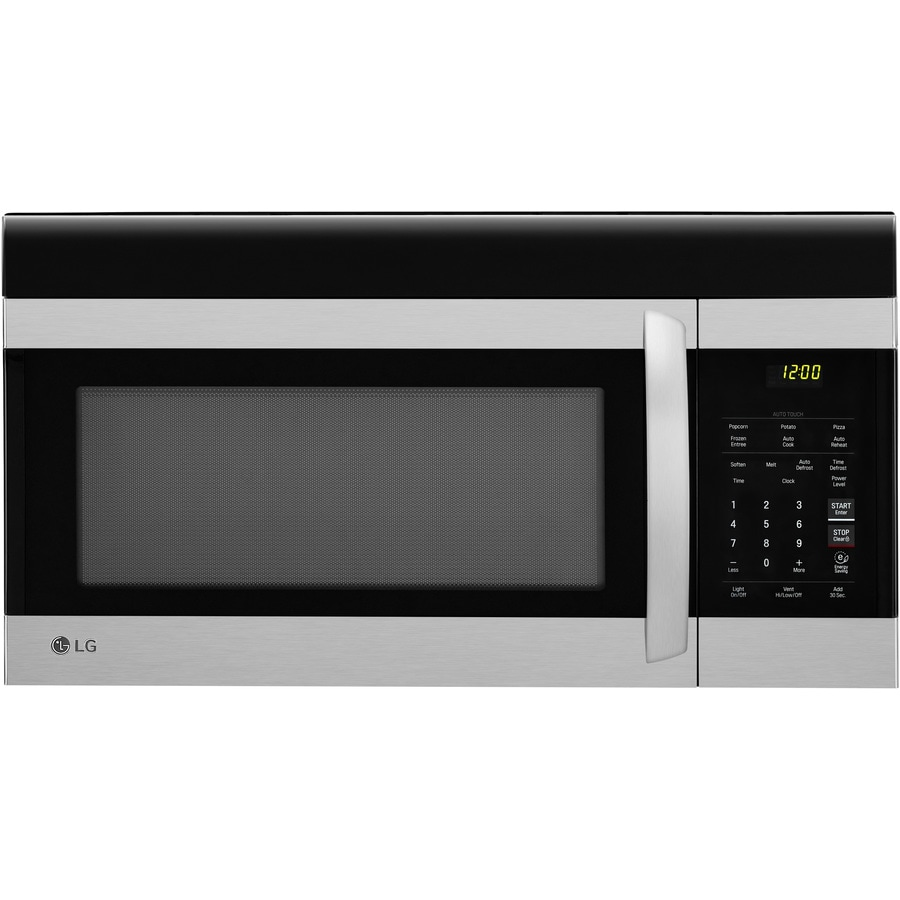 lg easyclean 1 7 cu ft over the range microwave stainless steel lowes com