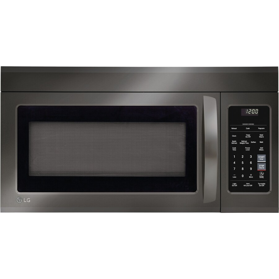 lg 1 8 cu ft over the range microwave oven 1 8 cu ft over the range microwave with sensor cooking black stainless steel