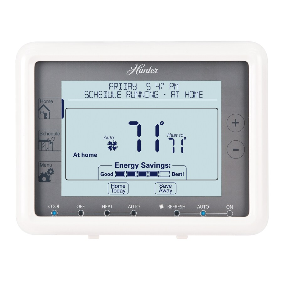 medium resolution of hunter 7 day touch screen programmable thermostat