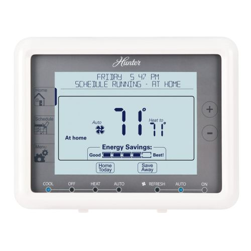 small resolution of hunter 7 day touch screen programmable thermostat