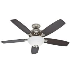 hunter banyan 52 in brushed nickel indoor ceiling fan with light kit [ 900 x 900 Pixel ]