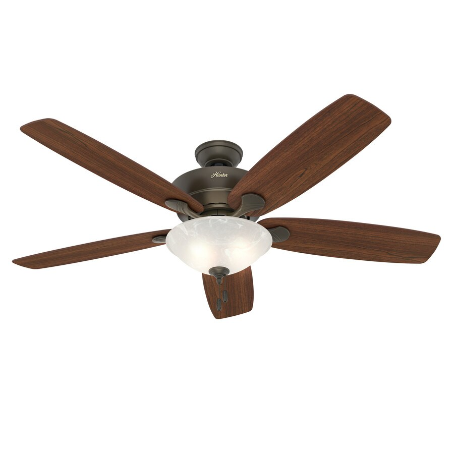 hight resolution of hunter regalia ii 60 in satin bronze led indoor ceiling fan with light kit 5 blade