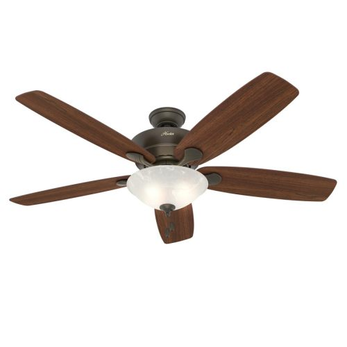 small resolution of hunter regalia ii 60 in satin bronze led indoor ceiling fan with light kit 5 blade