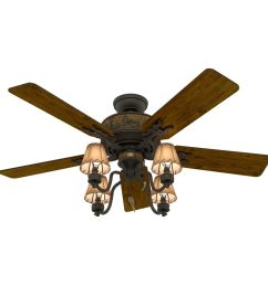 hunter adirondack 52 in indoor ceiling fan with light kit 5 blade  [ 900 x 900 Pixel ]