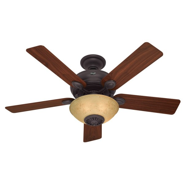 Hunter Westover Four Seasons Heater 52-in Bronze Downrod Mount Indoor Ceiling Fan With Light