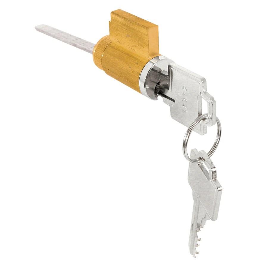 prime line cylinder lock for sliding glass door handle set