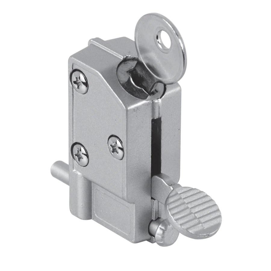 gatehouse step on keyed aluminum finish sliding patio door cylinder lock