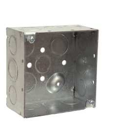 raco 2 gang gray metal interior new work standard square ceiling wall electrical box [ 900 x 900 Pixel ]