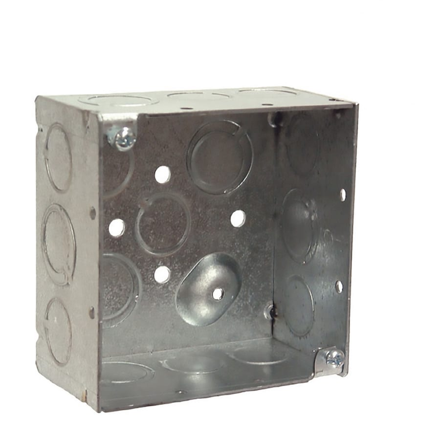 hight resolution of raco 2 gang gray metal interior new work standard square ceiling wall electrical box