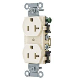 hubbell light almond 20 amp duplex residential commercial outlet [ 900 x 900 Pixel ]