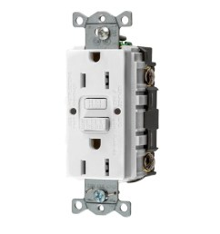 hubbell white 15 amp decorator gfci residential commercial 3 pack outlet [ 900 x 900 Pixel ]