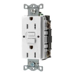 hubbell white 15 amp decorator outlet gfci protection residential commercial [ 900 x 900 Pixel ]