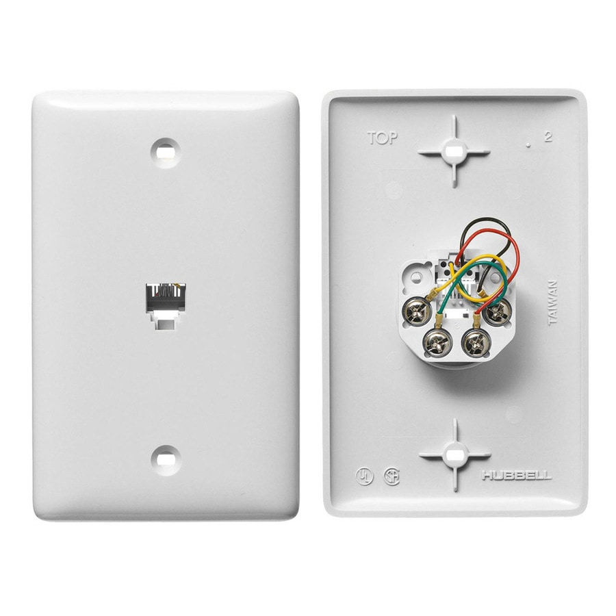 hight resolution of hubbell nylon rj11 wall jack